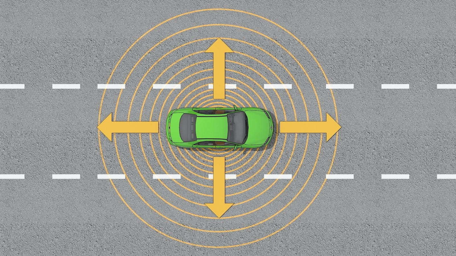 A BUFFER ZONE AROUND YOUR VEHICLE ALLOWS  YOU TO REACT TO POTENTIAL HAZARDS