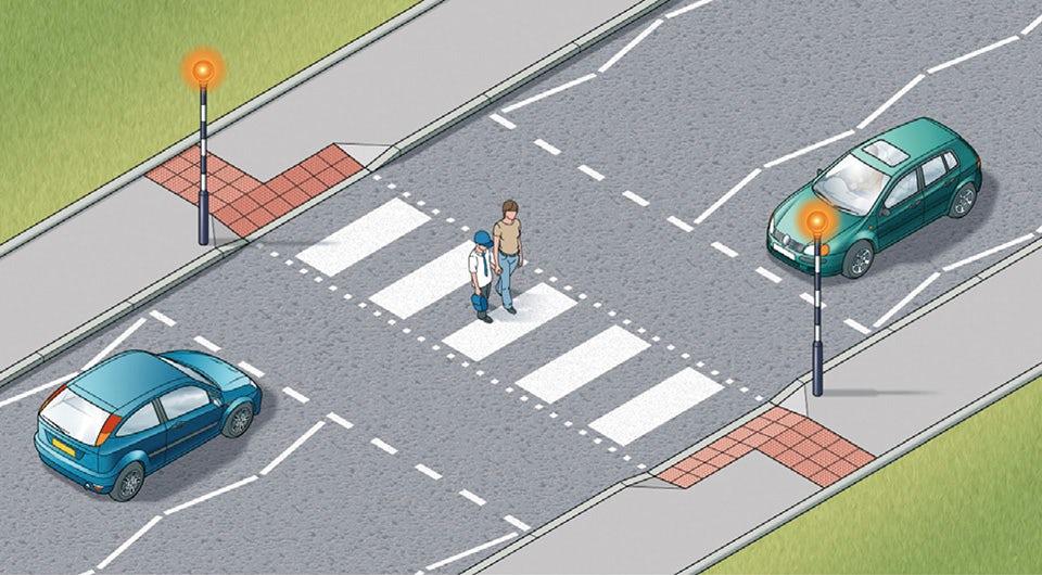 Rule 19: Zebra crossings have flashing beacons