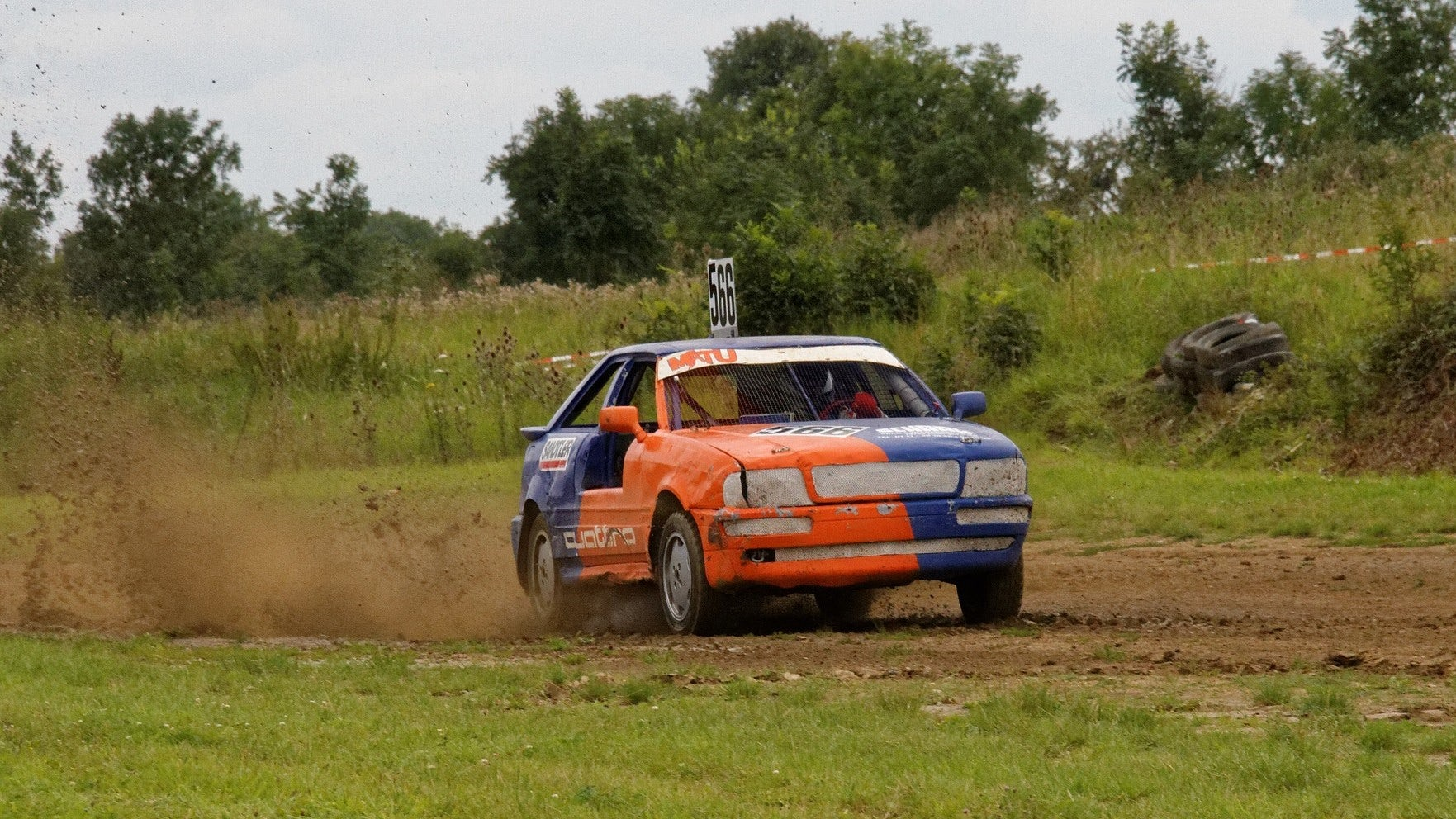 A car on off-road surface