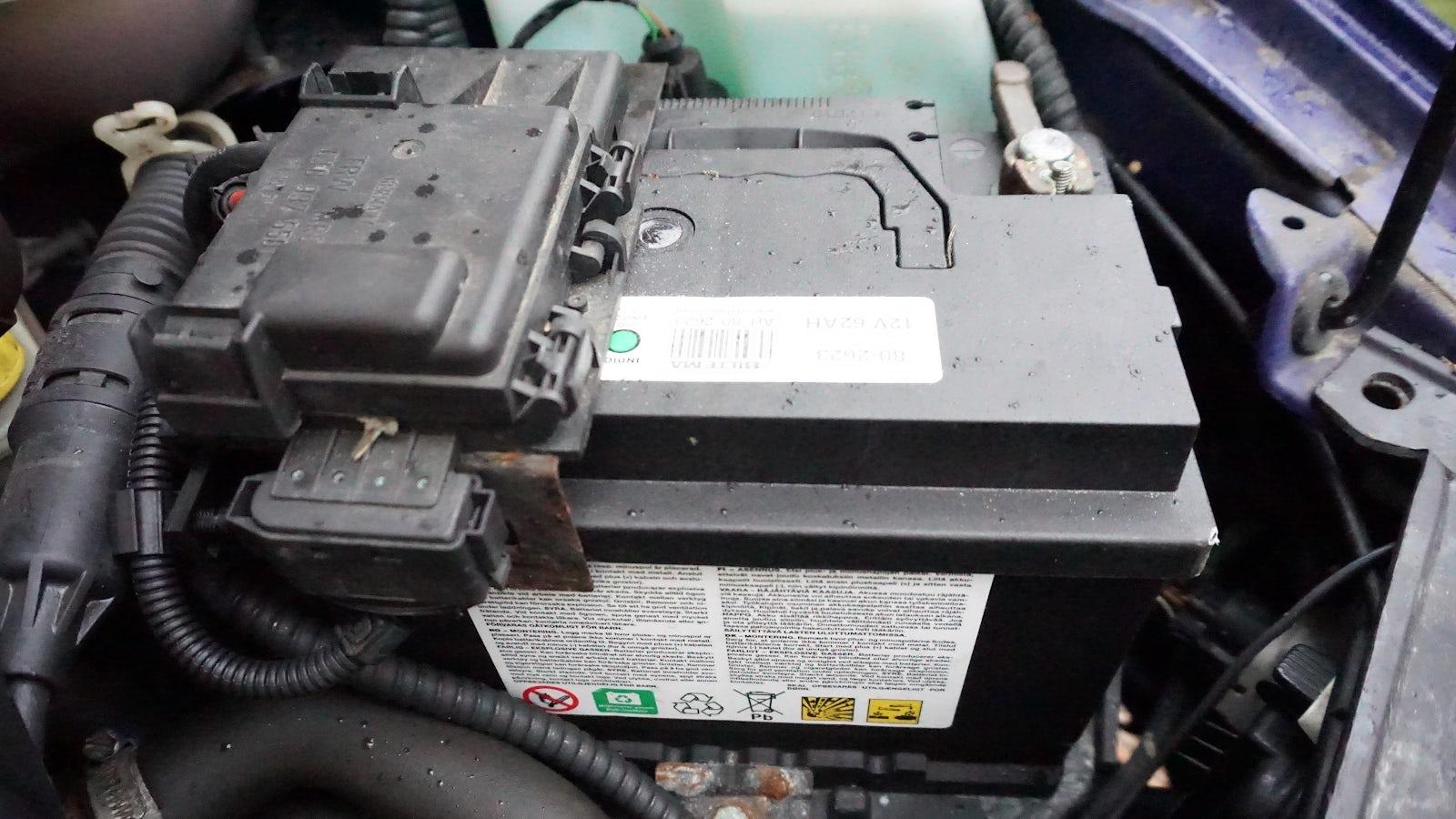 Ett bilbatteri.